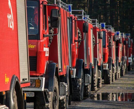 KMPSP Poznań: Pożar samochodu
